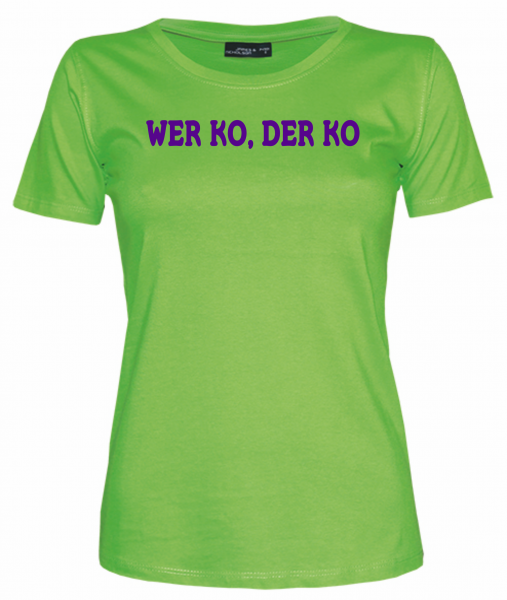 Damen T-Shirt WER KO DER KO