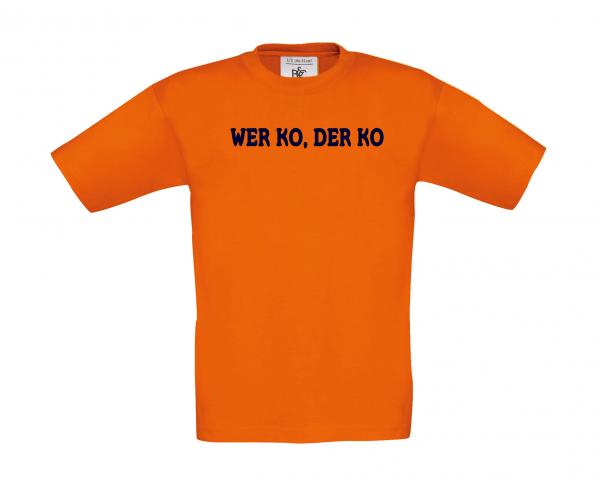 Kinder T-Shirt WER KO DER KO